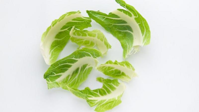 liście kalafiora na białym tle